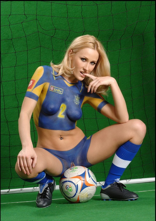 Body Paint En Mujeres Futbol