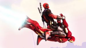 Deadpool-Flying-on-Iron-Man