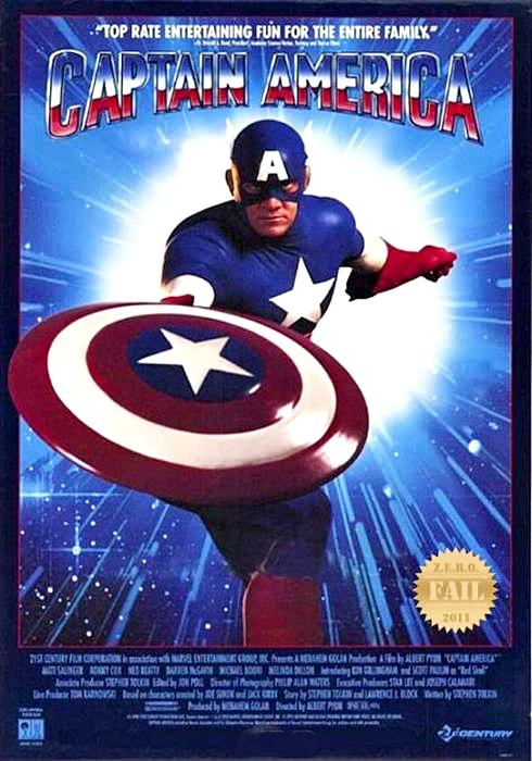 Capitan America poster 1990