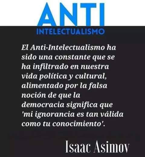anti intelectualismo
