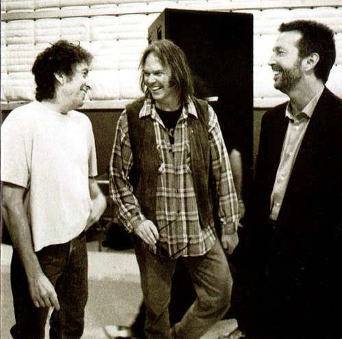 Bob Dylan, Neil Young y Eric Clapton