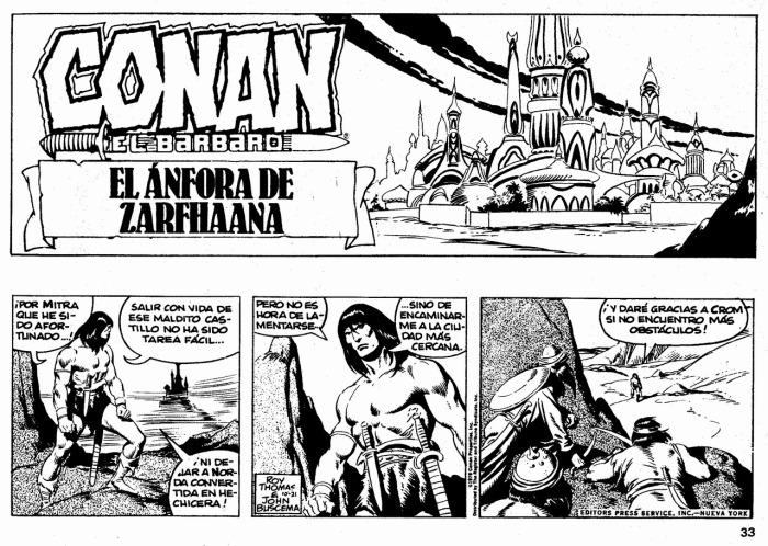 Conan Tiras 1-33